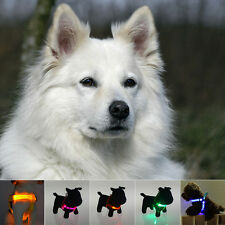 USB LED Flashing Light Dog Harness Safety Pet Puppy Harness Collar Lead Leash NT