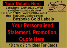 Personalised Slimming World Consultants Labels,IDEAL 4 Cards, Statements Pledges
