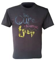 The cure t-shirt the kissing tour rock band retro washed black men shirt S to XL