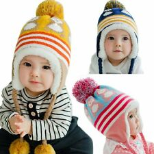 New Winter Baby Earflap Toddler Girl Boys Kid Animal Hat  Warm Crochet Headgear