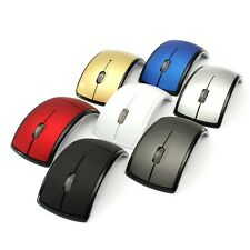 For PC Laptop 2.4GHz Folding Arc Wireless Optical Mouse Mice with USB Receiver