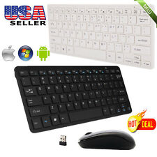 LOT 2.4GHz Wireless Multimedia Keyboard & Optical Mouse Combo+Nano USB Receive F