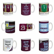 Personalised Aston Villa Football Club Mugs Gifts for Fans Souvenirs Merchandise