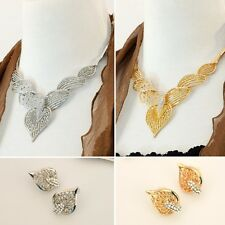 Fashion Jewelry Necklace and Earring Set - Lace Angel Wings
