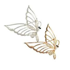 Glitter Crystal Butterfly Charms Brooches Pins Jewelry Animal Lover Breastpin