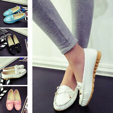 Women's Oxfords Flats Ballet Loafers Shoes Casual Slip-On Moccasins Sneakers H