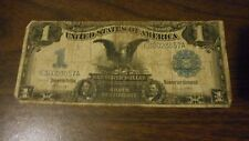 """1899 $1 ONE DOLLAR """"BLACK EAGLE"""" SILVER CERTIFICATE CURRENCY NOTE ."""