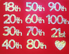 Birthday Numbers Silver Holographic Ideal for Cardmaking
