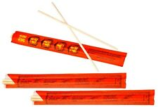 """9"""" Long Individually Wrapped Disposable Chinese Bamboo Chopsticks"""