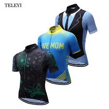 TELEYI Team Outdoor Sports Cycling Jersey Bike Tops Short Sleeve Mens Clothing