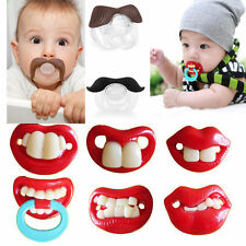Baby Funny Dummy Prank Pacifier Novelty Teeth Children Soother Nipple Gifts