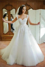 New white/Ivory Lace Bridal Gown Wedding Dress Custom size: 2 4 6 8 10 12 14 16+