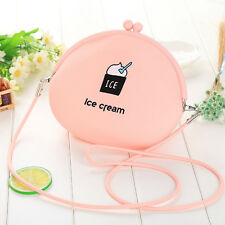Women Silicone Clip Mini Shoulder Bag Cross Body Messenger Bag Coin Purse