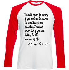 ALBERT CAMUS QUOTE 2 - NEW RED LONG SLEEVES COTTON TSHIRT