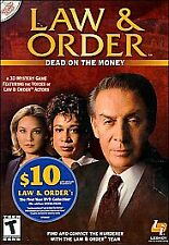 Law & Order: Dead on the Money (PC, 2002) *New,Sealed*