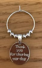 Personalised Silver Family Wine Charms Wedding Favours Table Decorations