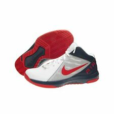 Nike The Air Overplay IX  Basketball Man Shoes Men's Ancle High White Red Navy