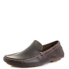 Mens Timberland Heritage Driver Vane Potting Soil Brown Leather Loafers Shu Size