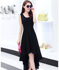 New summer Korean fashion temperament sweet shitsuke irregular chiffon dress