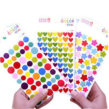 Notebook Stickers Class Sticky Paper Classic Diary Sticker 3 Styles 6 Sheets/Set