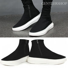 Men's Shoes Neoprene High Top Zip Up Ankle Sneakers 188 GENTLERSHOP