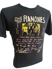 The ramones t-shirt johnny joey dee promoting rock band retro men black S to XL