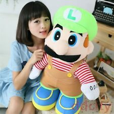 "Super Mario Bros 11""/15""/20""/28""/35"" Luigi Mario Stuffed Doll Animal Plush Toy"