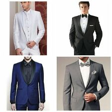 Fashion Best Man Groomsmen Suit Wedding Groom Tuxedos Dinner Party Business Suit
