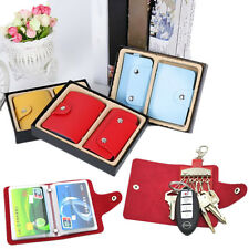 2PC Key Case Wallets Package Key Holder PU Leather Credit Card 24 Card Holder