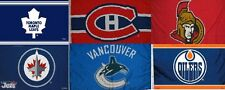 "Licensed CANADIAN NHL HOCKEY LARGE FLAG BANNER 3'X5' -Indoor/Outdoor-36""X60"""