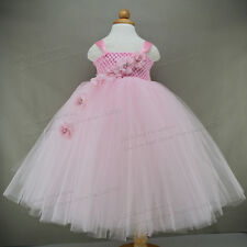 Party Dress For Baby Girl Pink Flower Girl Dresses Birthday Tutus For Babies