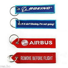 Aviation Boeing Airbus Remove Before Flight Embroidered Crew Luggage Tag Keyring