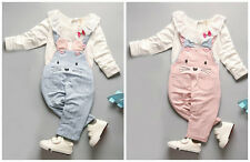 2pc baby clothes girls cotton spring fall Top+rompers kids girls outfits bunny