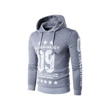 Men Hoodie Hooded Coat Jacket Long Sleeve Cardigan Sweatshirt Tops Outwear w812