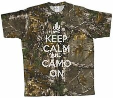 Keep Calm And Camo On Realtree Camoflauge T-Shirt