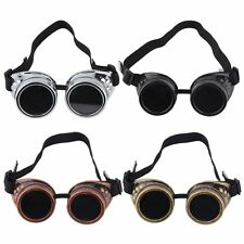 HOT Goggle Cyber Steampunk Glasses Vintage Retro Welding Punk Gothic LN