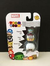 Disney Tsum Tsum 3 Pack Series 1 MINT NEW Thanos Thor and Black Cat Marvel Set