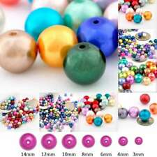 3/4/6/8/10/12/14mm Assorted Glass Pearl Spacer Beads Round Loose Wholesale