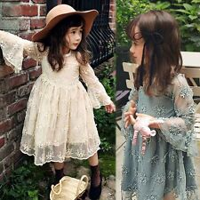 Pleated Baby Dresses Lace Prom Party Pageant Gown Applique Flower Lovely Newest