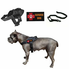 Tactical Dog K9 Service Dog Vest Harness With 2 Patches/Leash Black/Brown
