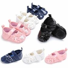 Infant Girls Summer PU Leather Baby Toddler Soft Sole Moccasin Crib Shoes 0-18M