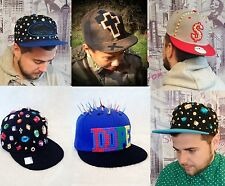 UNIQUE Hand Embellished Spike Stud Snapback Baseball Cap Hat Cross Dope GIFT