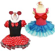 Cute Girls Minnie Mouse Princess Ballet Tutu Dress Up Headband Halloween Costume