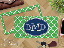 """""""Moroccan"""" Personalized Monogrammed Aluminum Vanity License Plate & Frame"""
