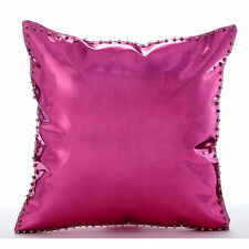 Hot Pink & Gold Spikes - Pink Faux Leather 35x35 cm Decorative Cushion Covers
