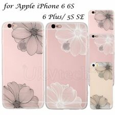Slim Soft TPU Emboss Clear Cover Case New for Apple iPhone 5S SE/ 6 6S/ 6Plus