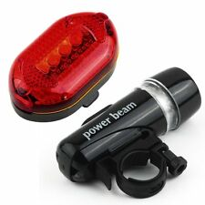 LED Bicycle Bike Cycling Silicone Head Front Rear Wheel Safety Light Lamp NEW B1