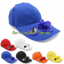 Summer Sport Outdoor Hat Cap with Solar Sun Power Cool Fan For Cycling FV