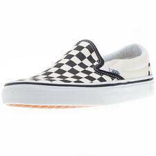 Vans Classic Slip-on Check Mens Unisex Slip On Black White New Shoes