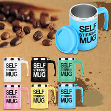 400ml Stainless Self Stirring Mug Auto Mixing Drink Tea Coffee Cup With Lid SX